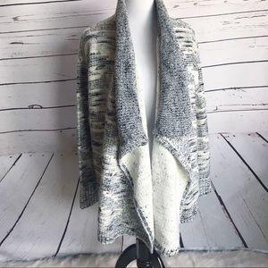Lou & Grey cardigan small waterfall open sweater